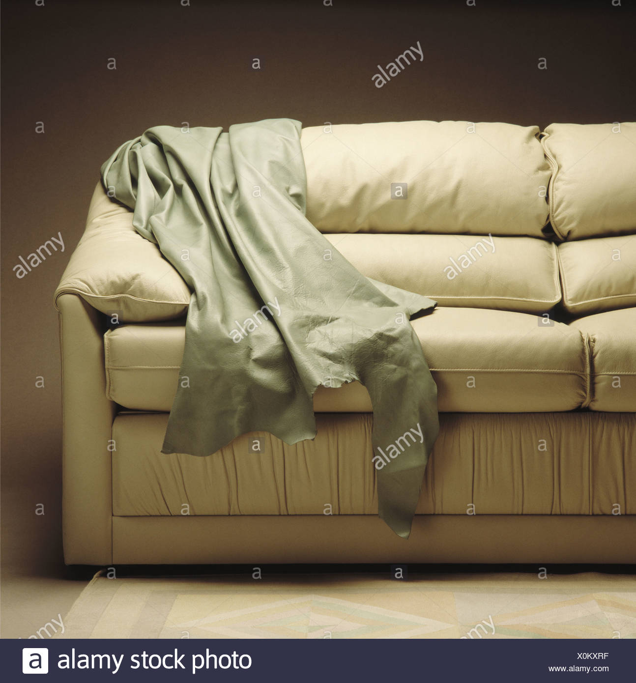 throws for cream leather sofa dimensions cm sofas settees stock photos and
