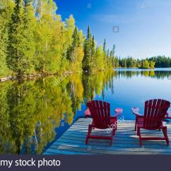 New River Adirondack Chairs Modern Swivel Lounge Dock Stock Photos And