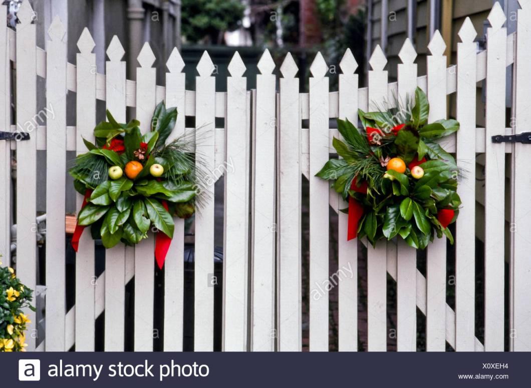 Christmas Decoration Picket Fence