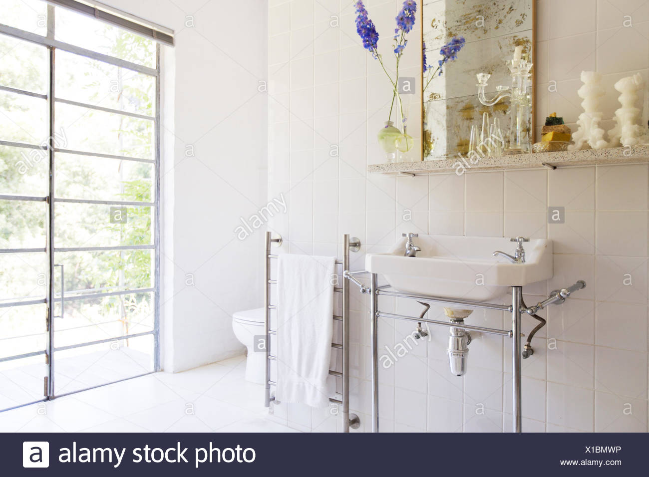https www alamy com sink and towel rack in rustic bathroom image276238418 html