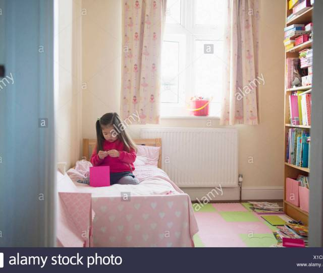 Girl Playing By Herself Stock Image