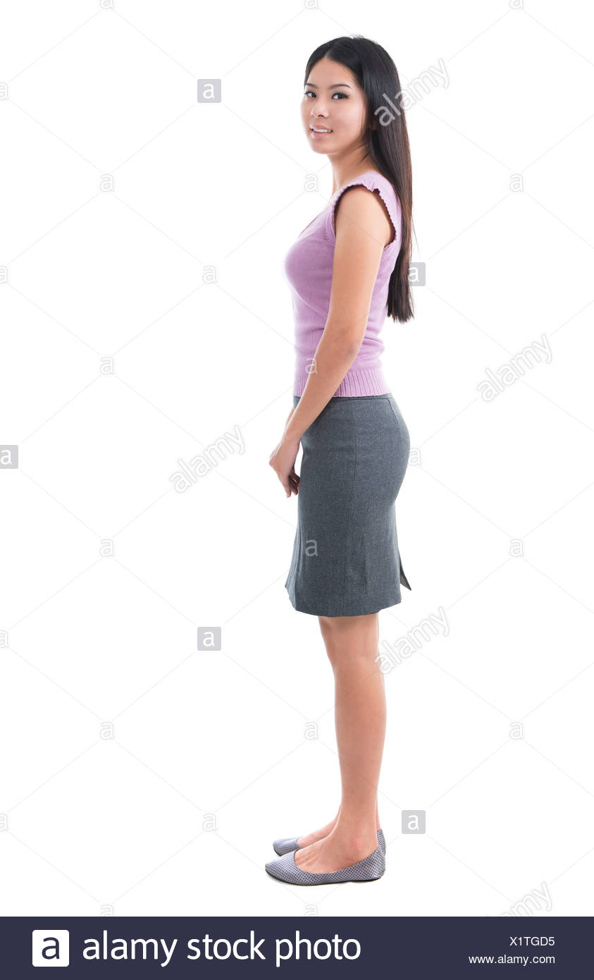Body Side View : Asian, Young, Woman, Stock, Photo, Alamy