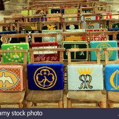 Church Chair With Kneeler Revolving Justdial Pews Stock Photos And Images Alamy