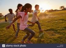 Child Running Barefoot
