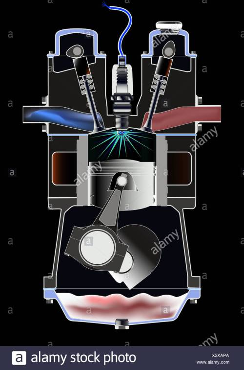 small resolution of four stroke petrol engine stock image