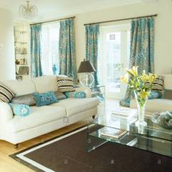 Cream Living Room Curtains Single Chairs For India Patterned Turquoise And Sofas In With Black Rug Modern Glass Table