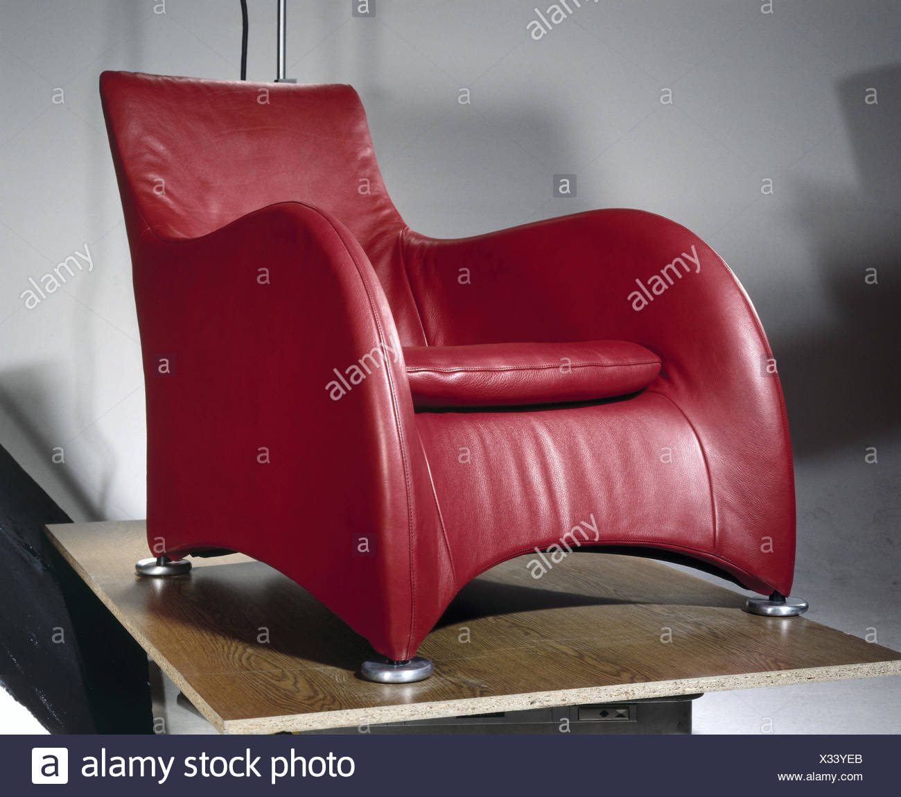 Designer Armchair Red White And Red Color Sofa Armchair Isolated