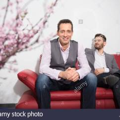 Younger Sofa James Low Profile Leather Sectional On Premises Stock Photos And Images Alamy