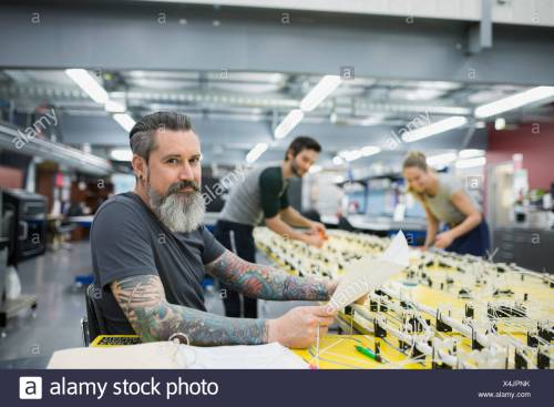 small resolution of portrait confident helicopter technician at wiring harness stock image