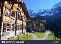 Lauterbrunnen Valley Switzerland Stock