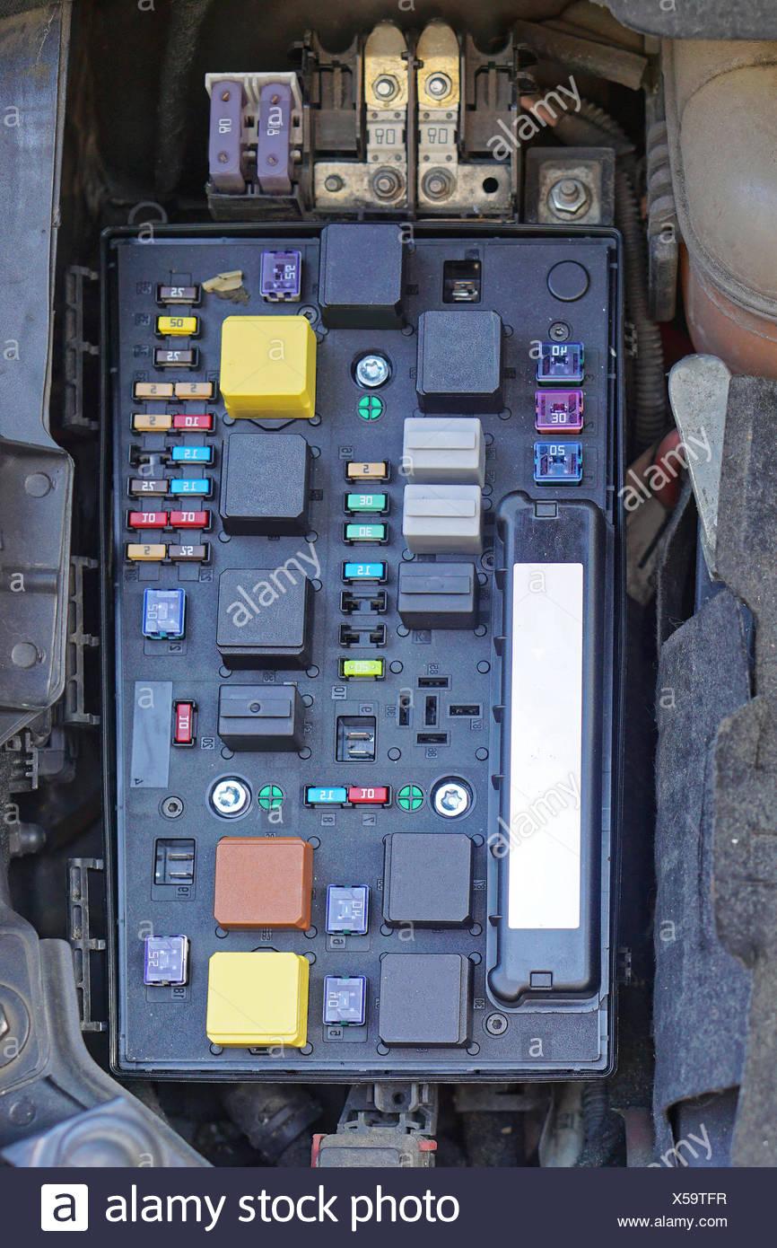 medium resolution of car fuse box stock image