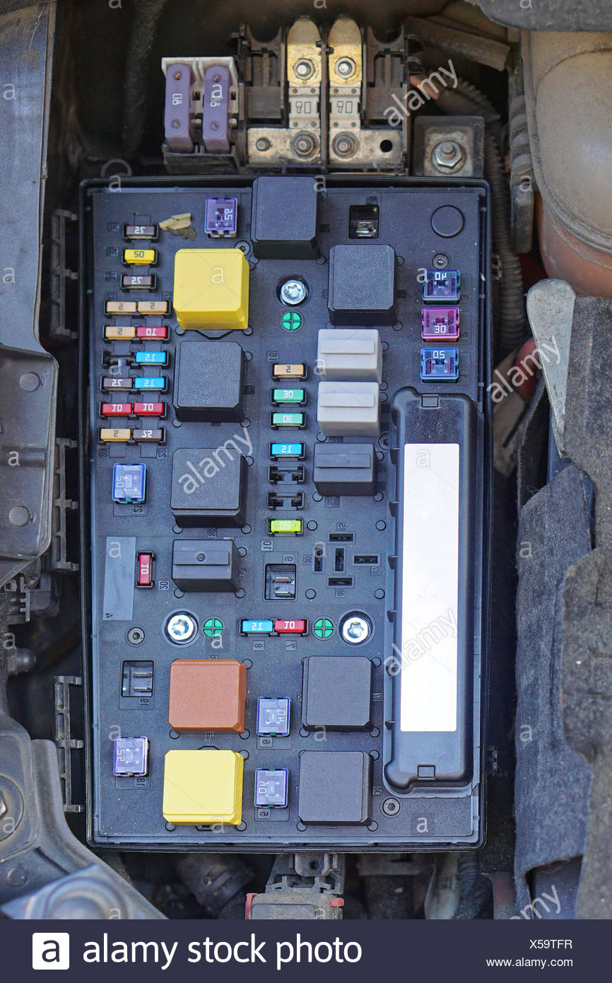 hight resolution of car fuse box stock image