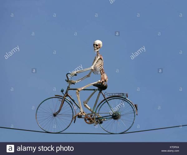 Skeleton Bike Stock &