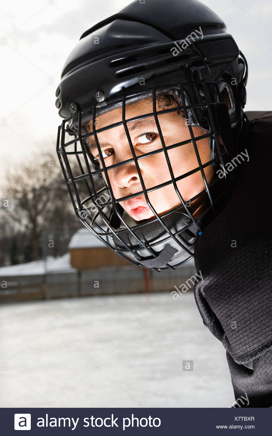 ice hockey player boy