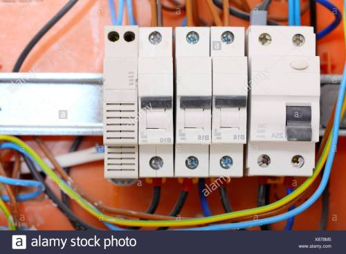 small resolution of electrical installation close up electrical panel electricity distribution box with wires fuses and contactors