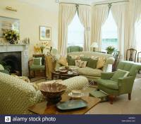 Bay Window Curtains Stock Photos & Bay Window Curtains ...