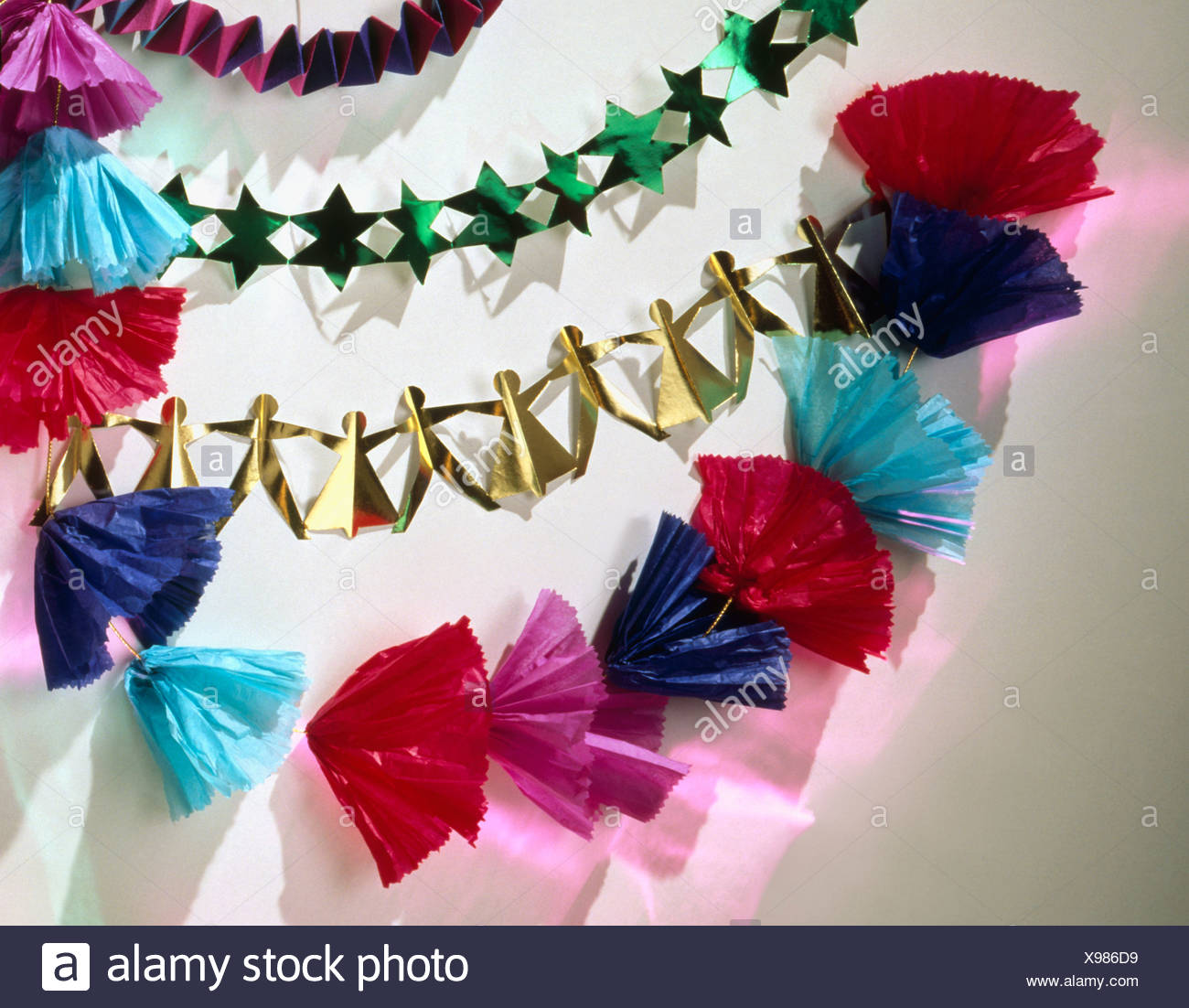 paper chain christmas stock