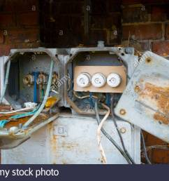 old fuse box stock image [ 1300 x 956 Pixel ]