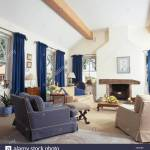 Blue And Cream Armchairs And Cream Sofa Set Around The