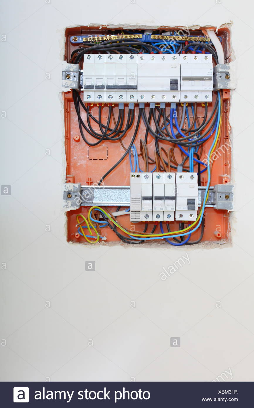 medium resolution of electrical installation close up electrical panel electricity distribution box with wires fuses and contactors