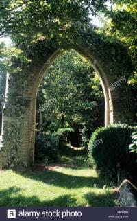 Gothic ruin in wild natural garden setting Mannington Hall ...