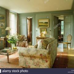 Country Living Rooms With Gray Walls How To Layout Furniture In A Long Narrow Room Floral Sofa French Green Painted