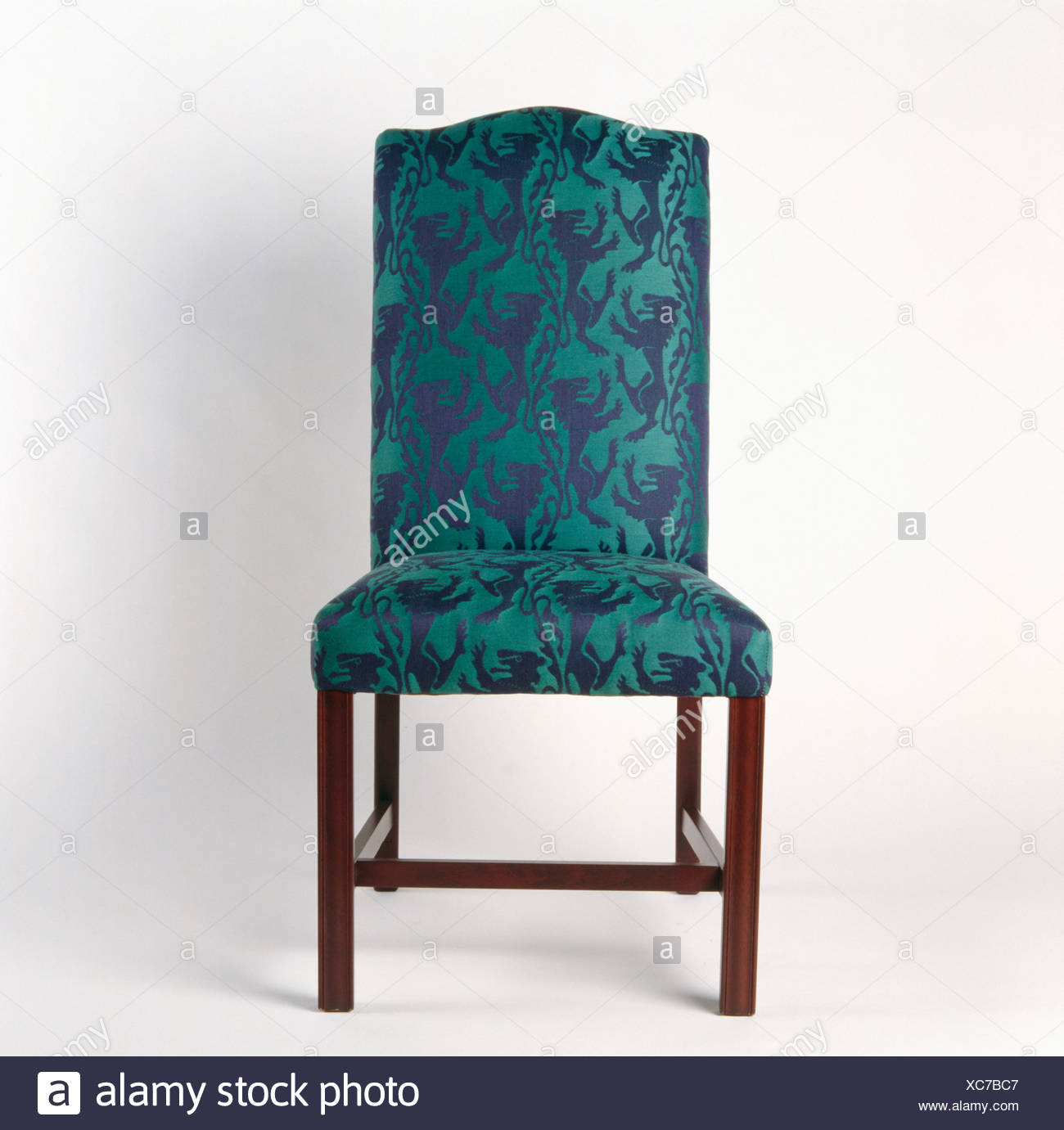 Green Upholstered Chair Close Up Of Green Blue Upholstered Chair Stock Photo 282904391