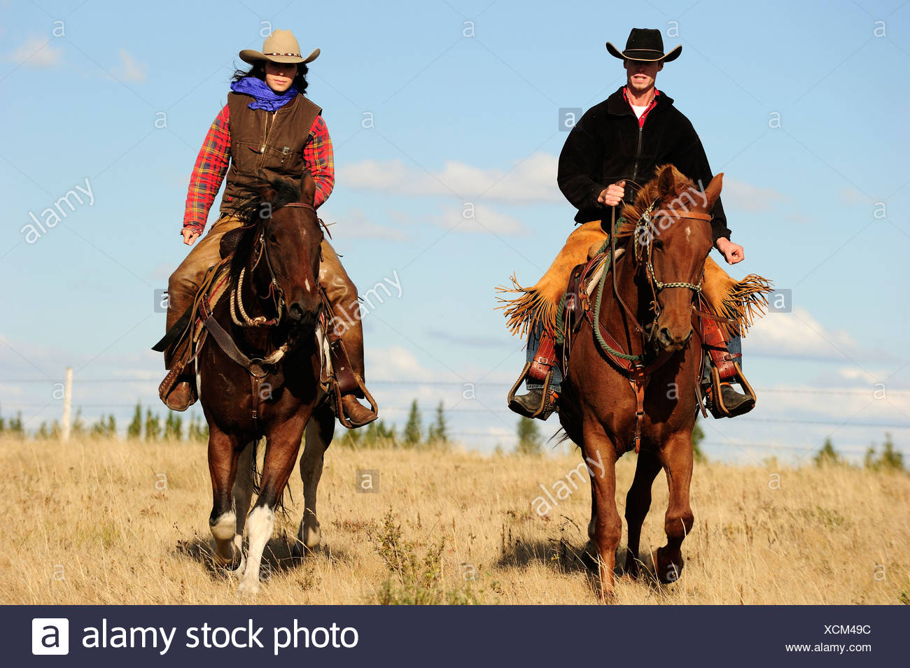 Two Cowboys Riding Horses Stock Photos Amp Two Cowboys