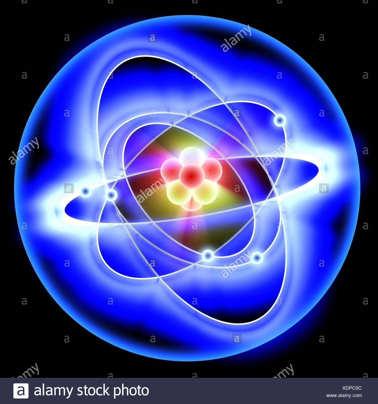 orbital diagram for beryllium 2 wire ultrasonic flow meter electron stock photos and