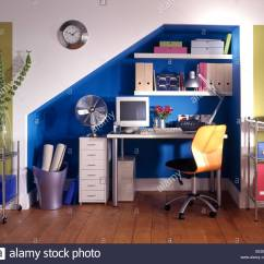 Revolving Chair Thames Porch Rocking Blue Office Stock Photos And