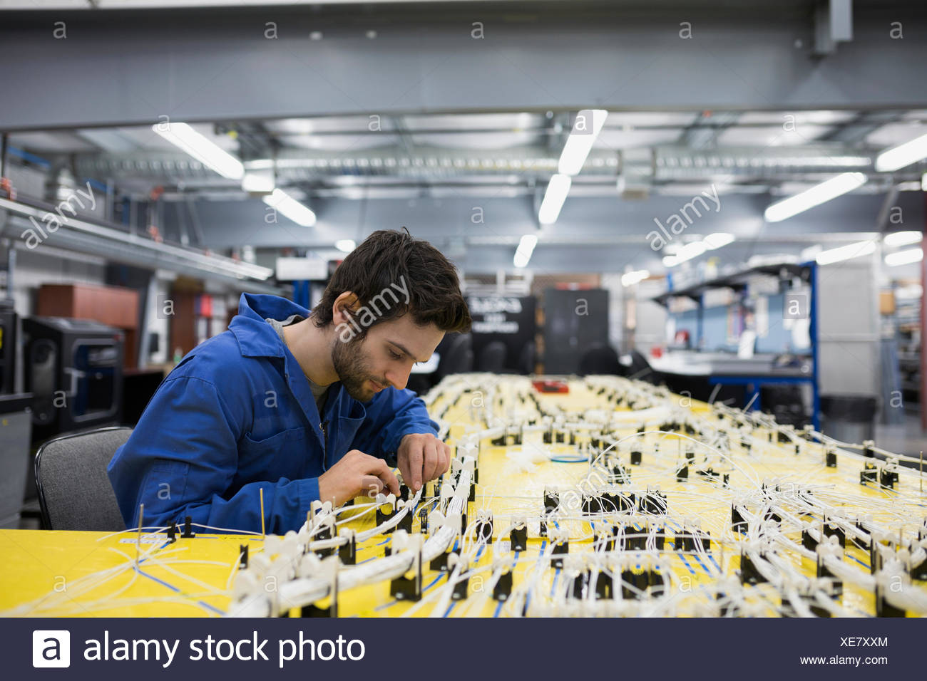 hight resolution of wiring harness stock photos wiring harness stock images alamy factory wiring harness replacement helicopter technician