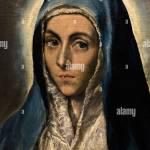 Die Jungfrau Maria 1590 Des Kunstlers El Greco Schone Kunste In Strassburg Frankreich Stockfotografie Alamy