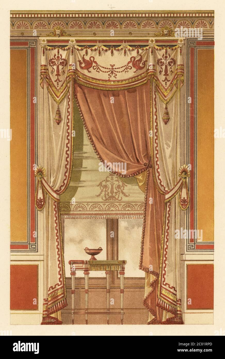 wandaufhangung im neo griechischen stil