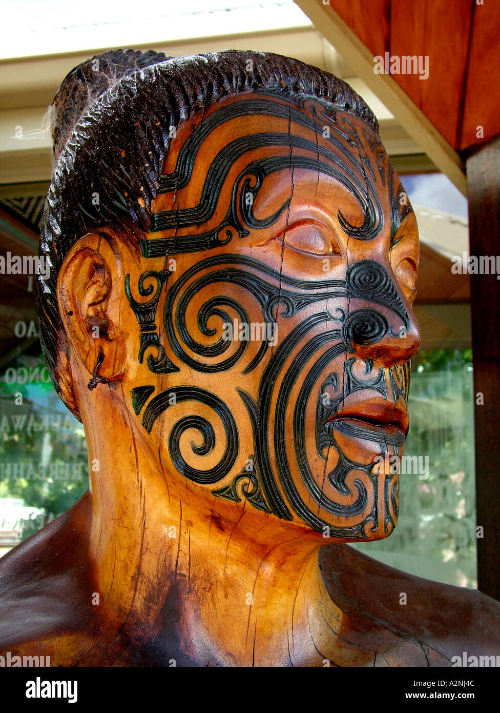 Maori Moko Tattoo Stockfotos  Maori Moko Tattoo Bilder