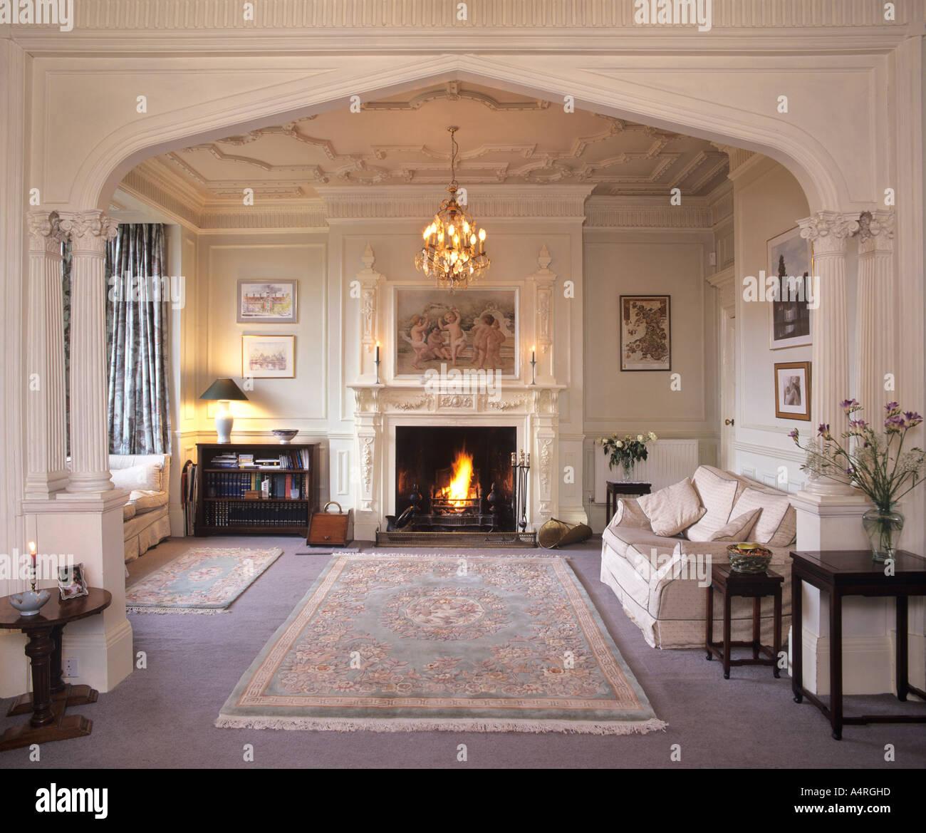 sofa basel kaufen recliner set amazon salon interieur, landhaus, england stockfoto, bild ...