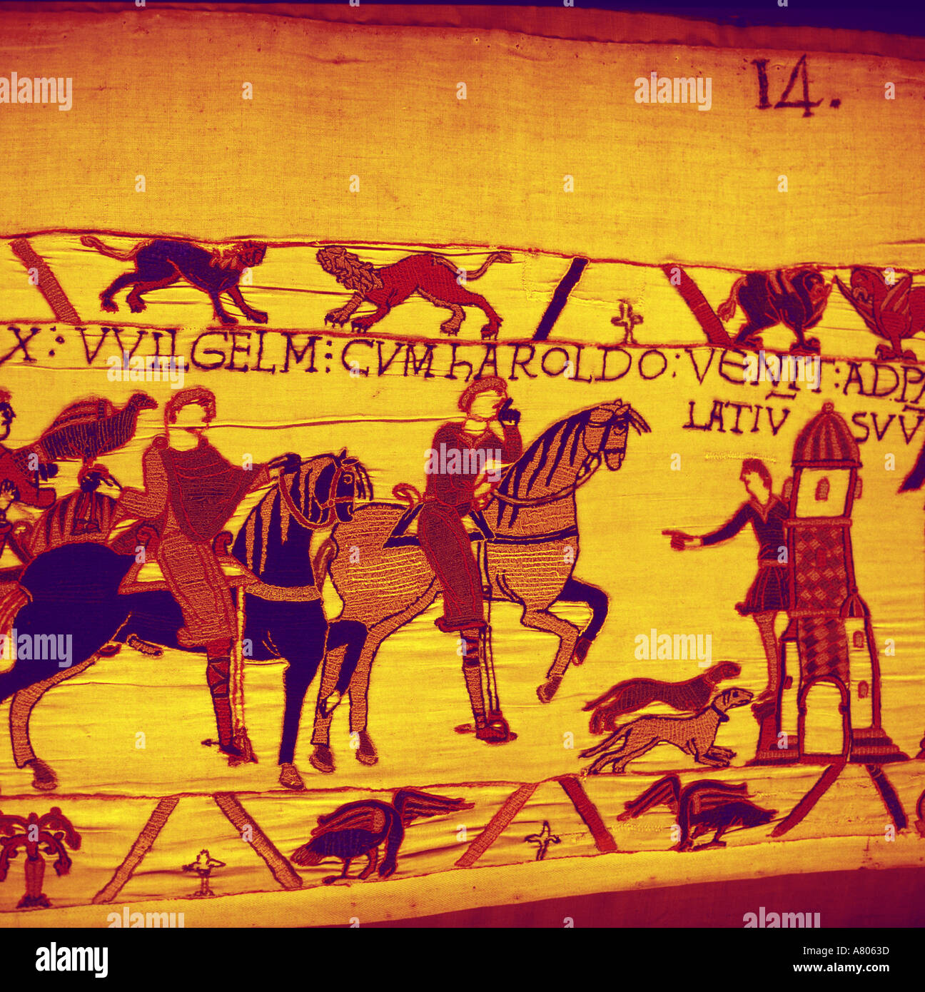 Teppich Von Bayeux Nach England 1066 Stockfotos And 1066 Bilder Alamy