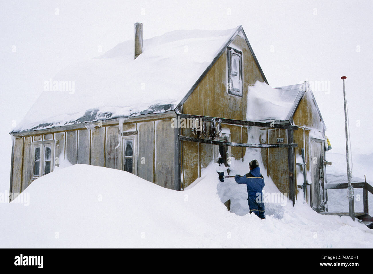 Inuit House Greenland Ammassalik Angmagssalik Stockfotos