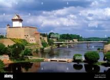 Estland Narva Narwa Hermannsfeste Und Brcke Ber Den