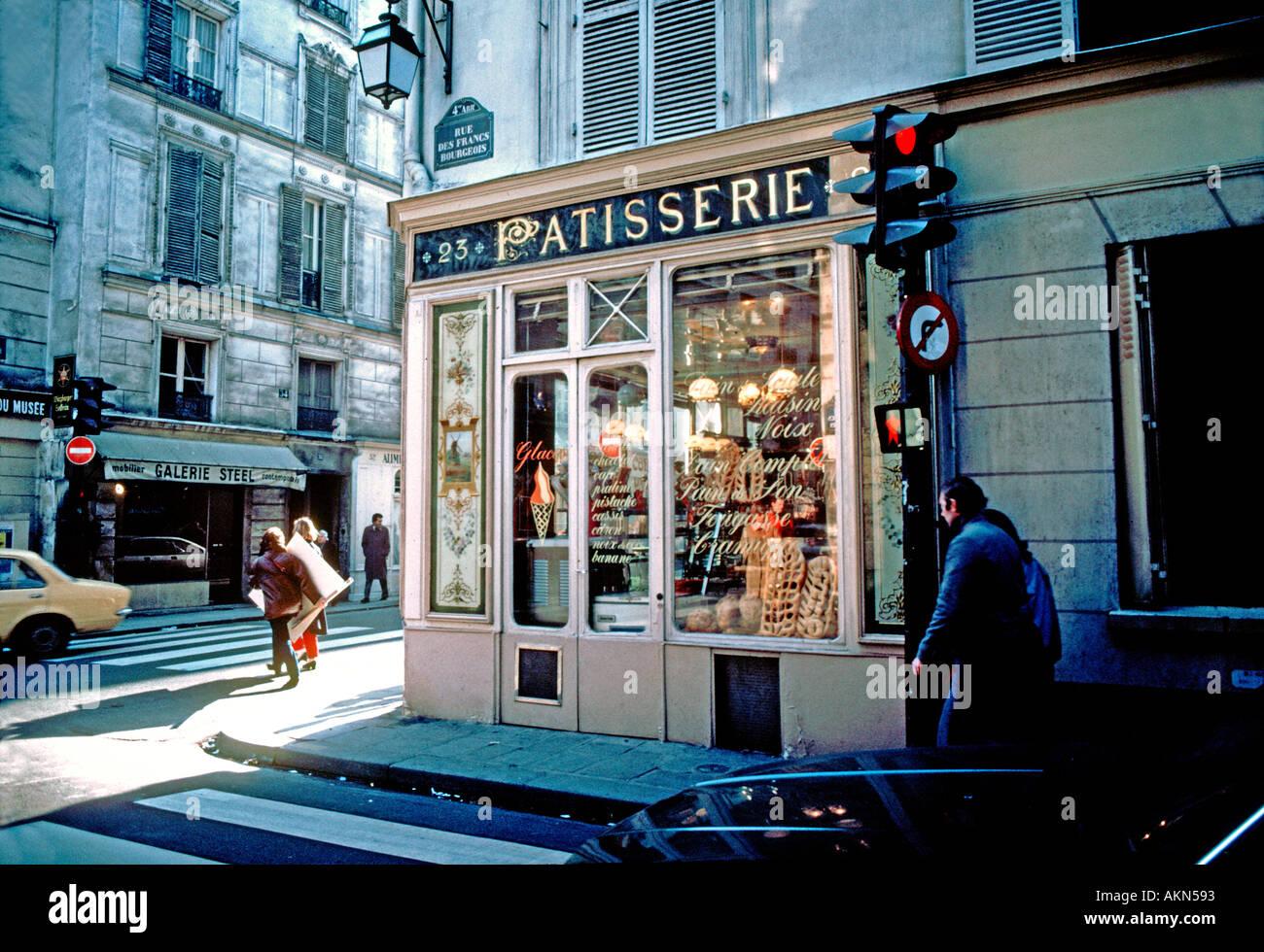Paris Frankreich Boulangerie Patisserie auen alt French Bakery Schaufenster Rue de Francs