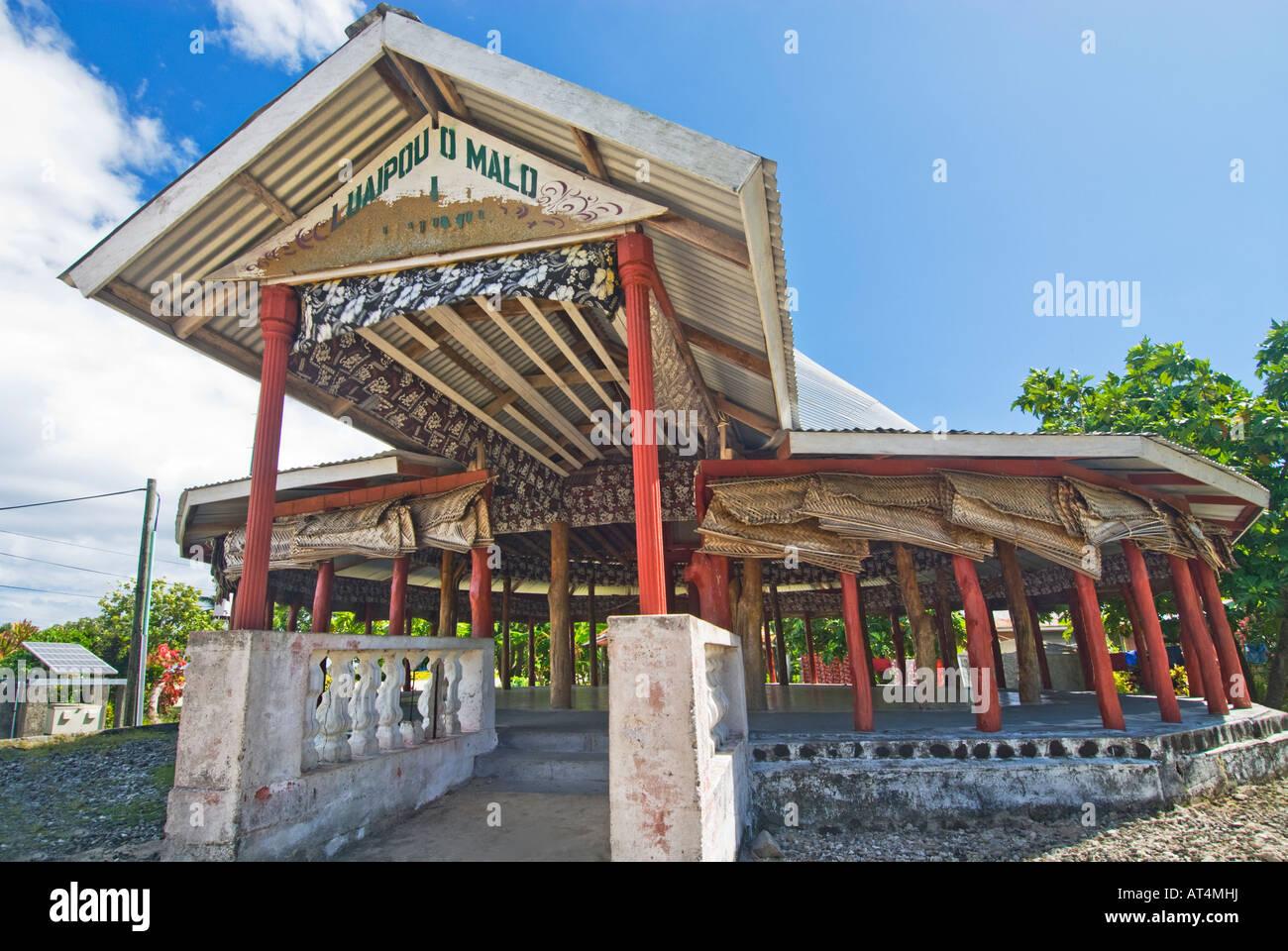 Samoa-Inseln Polynesien Serene Manono Insel Upolu Ohne Fahrzeuge