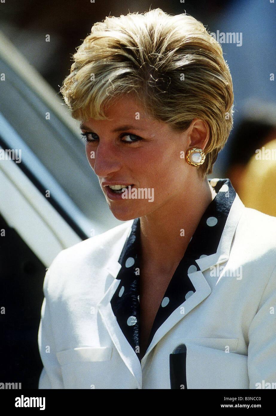 Prinzessin Diana zeigt ihre neue Frisur Juli 1990
