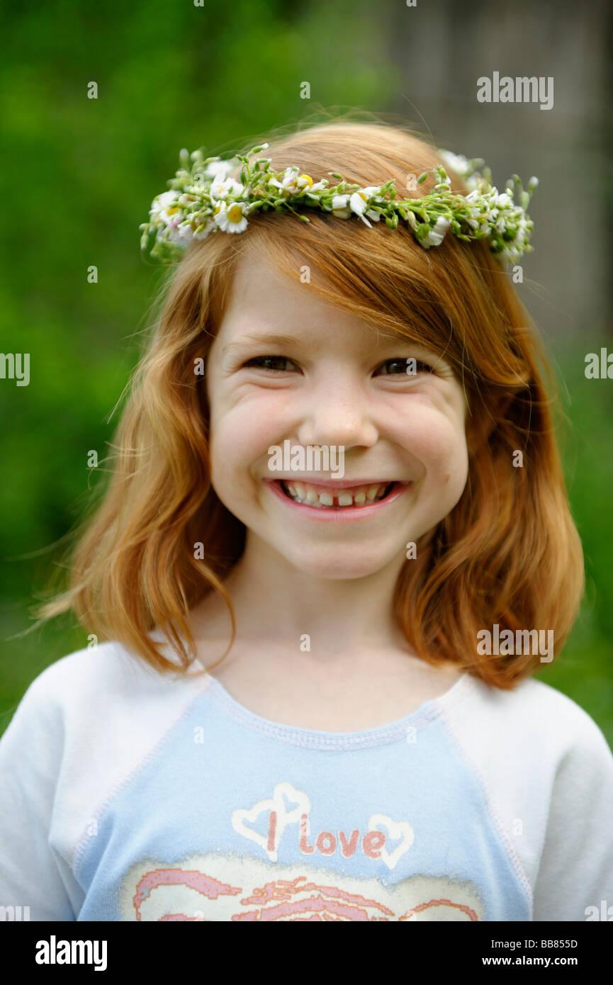 Portrait 10 Year Old Redhead Stockfotos  Portrait 10 Year