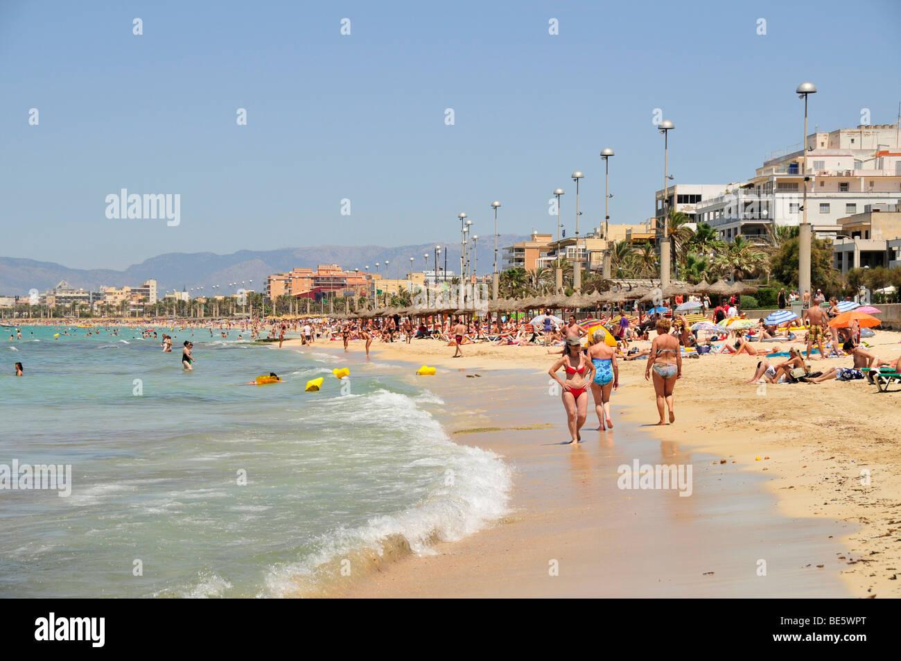 el arenal auf den strand von playa de