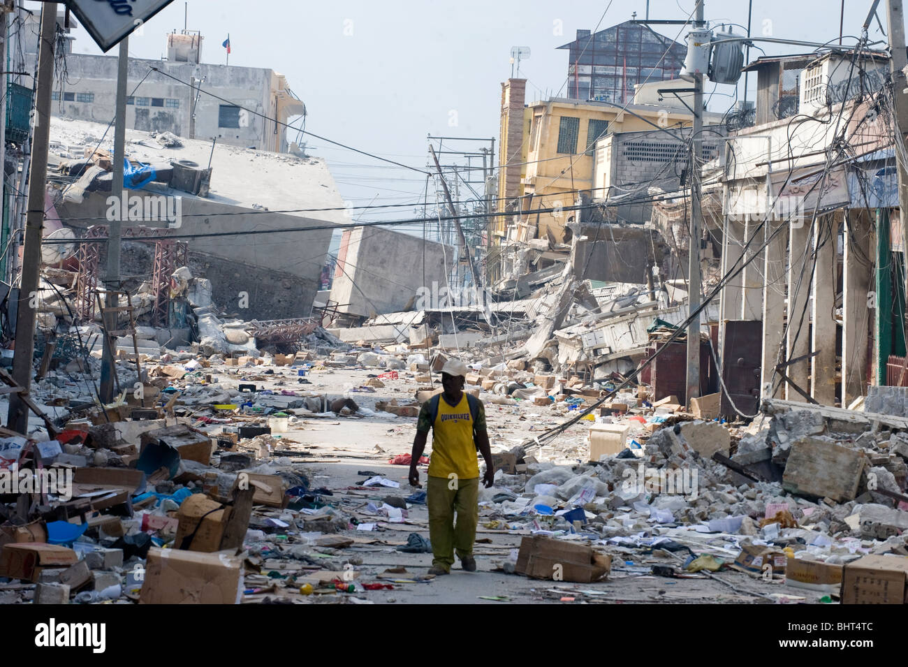 Zerstorte Hauptstadt Nach Einem 7 0 Mw Erdbeben Haiti Am 12 Januar Katastrophale