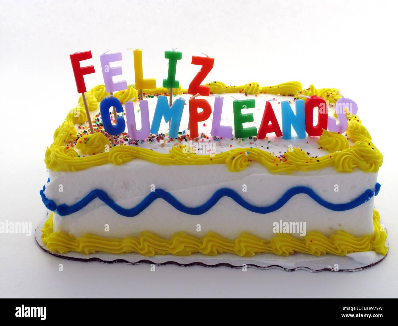 Geburtstagstorte mit spanischen Kerzen Stockfoto Bild 28214085  Alamy