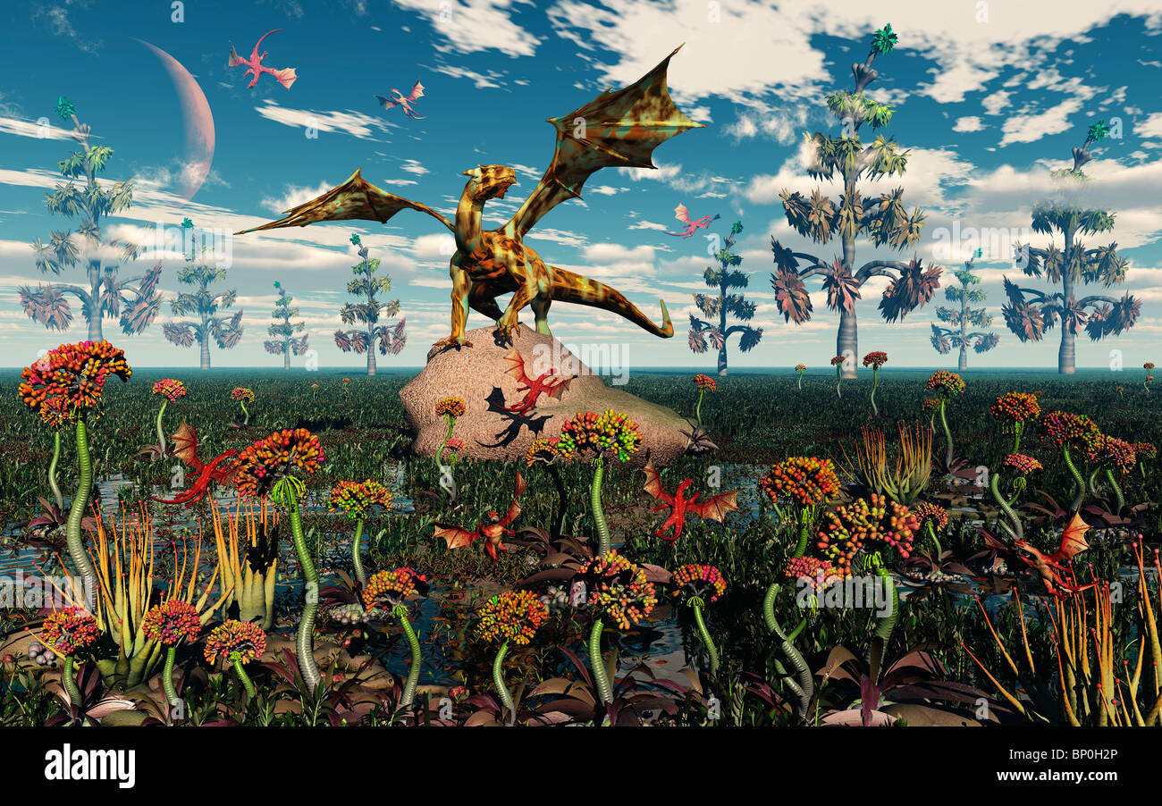 Garten Drachen Dragon Fantasy Stockfotos And Dragon Fantasy Bilder Alamy