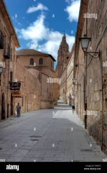 Town Salamanca Castile Leon Stockfotos &