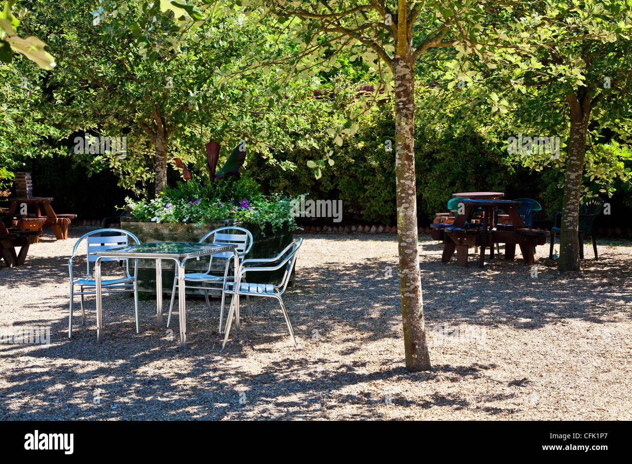 Garten Kies Terrasse Sitzplatz Garten Kies Fotografie Terrasse