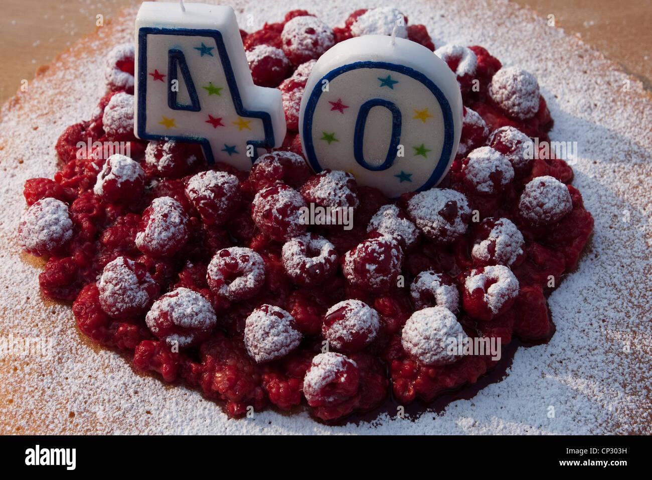 40 Geburtstagskuchen Stockfoto Bild 48009125  Alamy