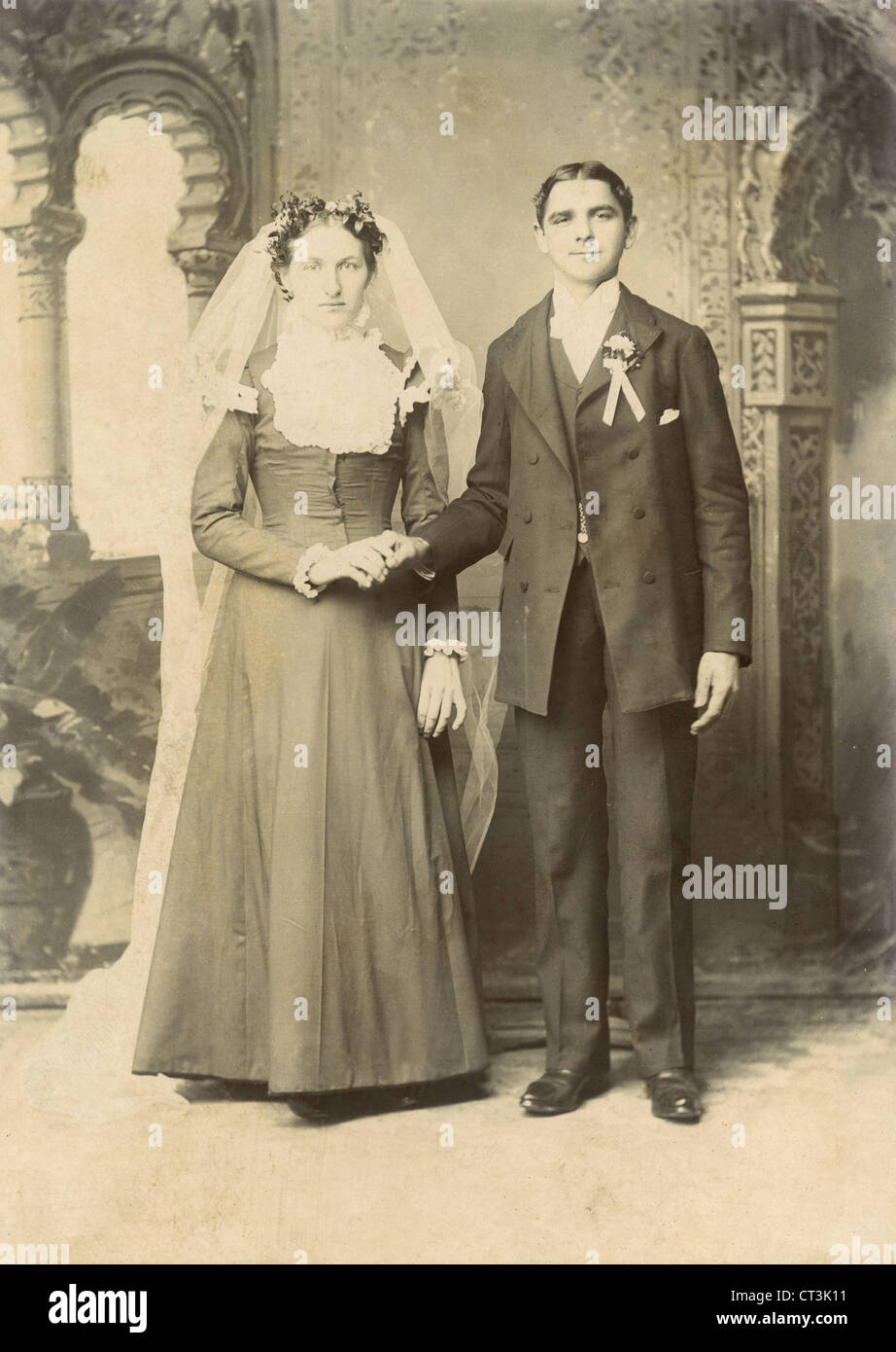 Wedding Couple Portrait Usa Circa Stockfotos  Wedding Couple Portrait Usa Circa Bilder  Alamy